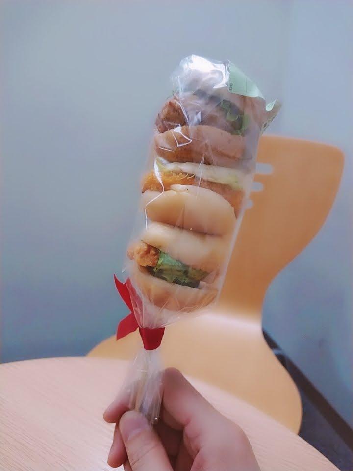 3段ミニハンバーガー